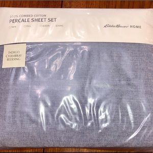 Eddie Bauer 100% Cotton Percale King Sheet Set New